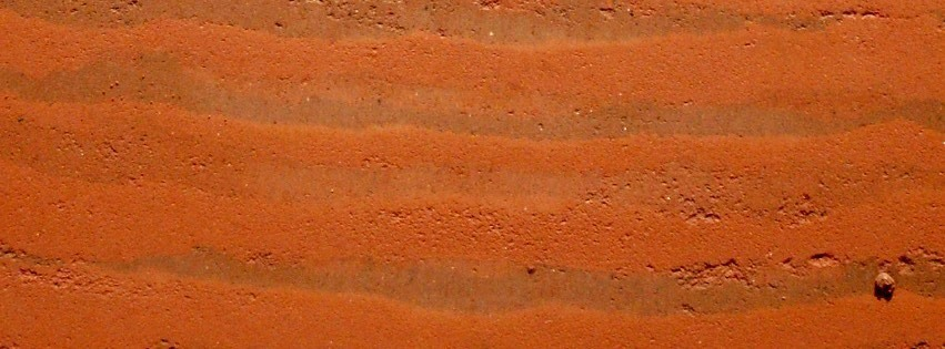 Closeup of a Rammed Earth Wall