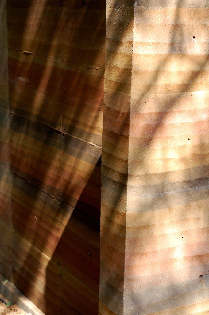 Pigmented Rammed Earth Wall